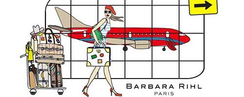 BARBARA RILH pochette cuir femmes...